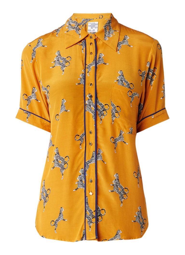 Baum und Pferdgarten Matsu Desert Cat blouse met print in pyjama look