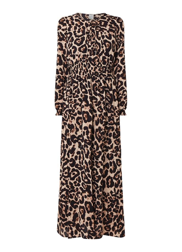 Baum und Pferdgarten Agnette maxi-jurk met luipaarddessin bruin