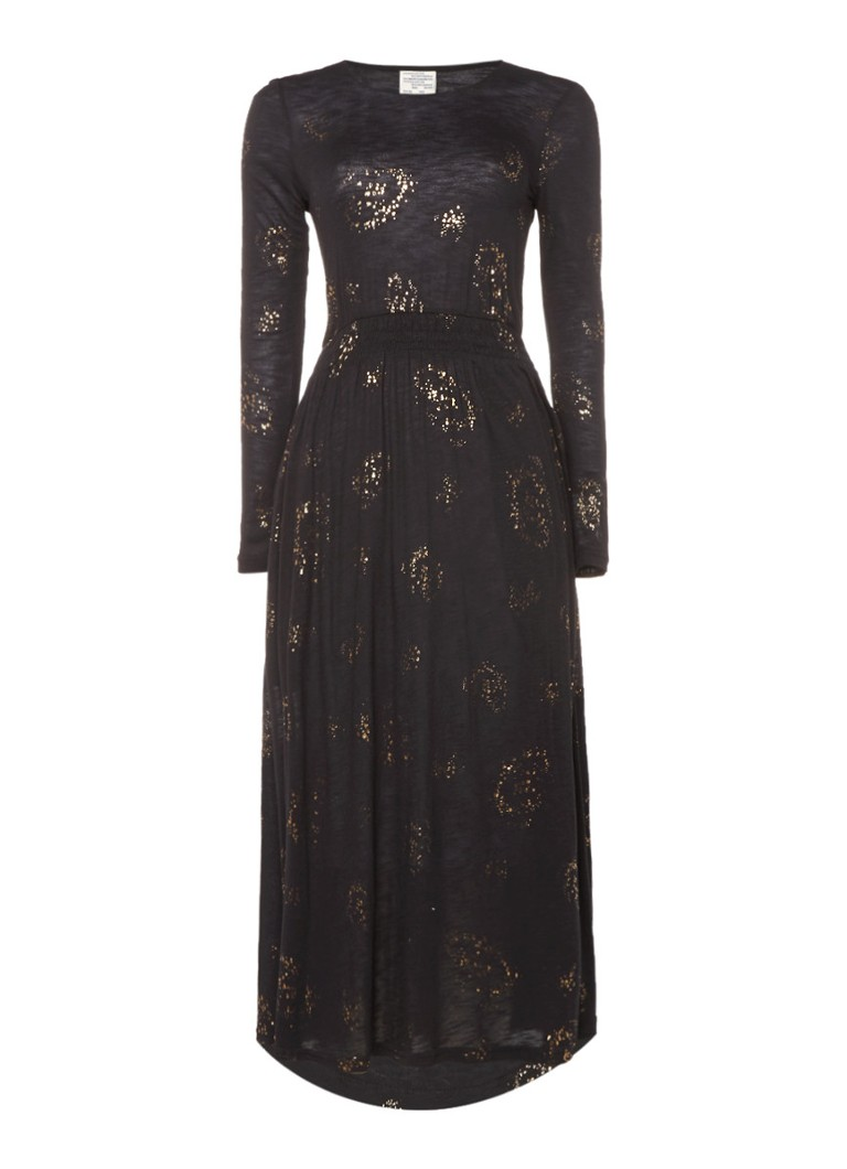 Baum und Pferdgarten Jaelle maxi-jurk met metallic dessin zwart