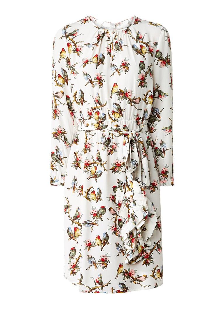 Baum und Pferdgarten Agda A-lijn jurk met vogelprint multicolor