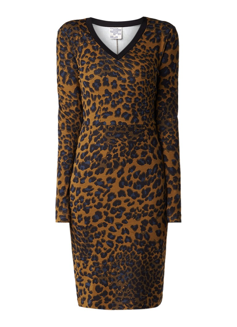 Baum und Pferdgarten Yael midi-jurk met luipaarddesin bruin
