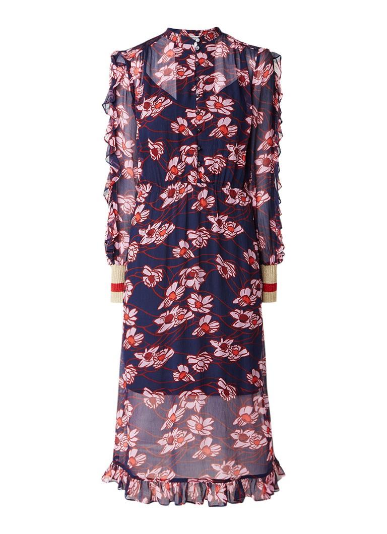 Baum und Pferdgarten Abbia semi-transparante maxi-jurk met bloemendessin donkerblauw