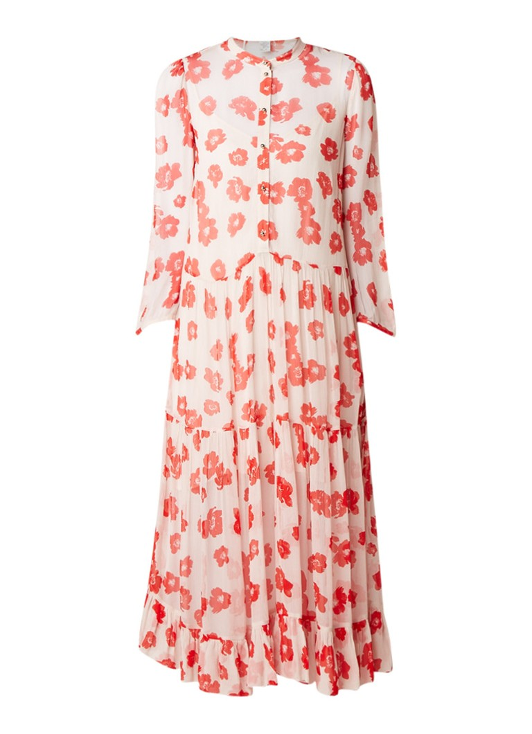 Baum und Pferdgarten Alexandrina jurk van crêpe met bloemendessin lichtroze