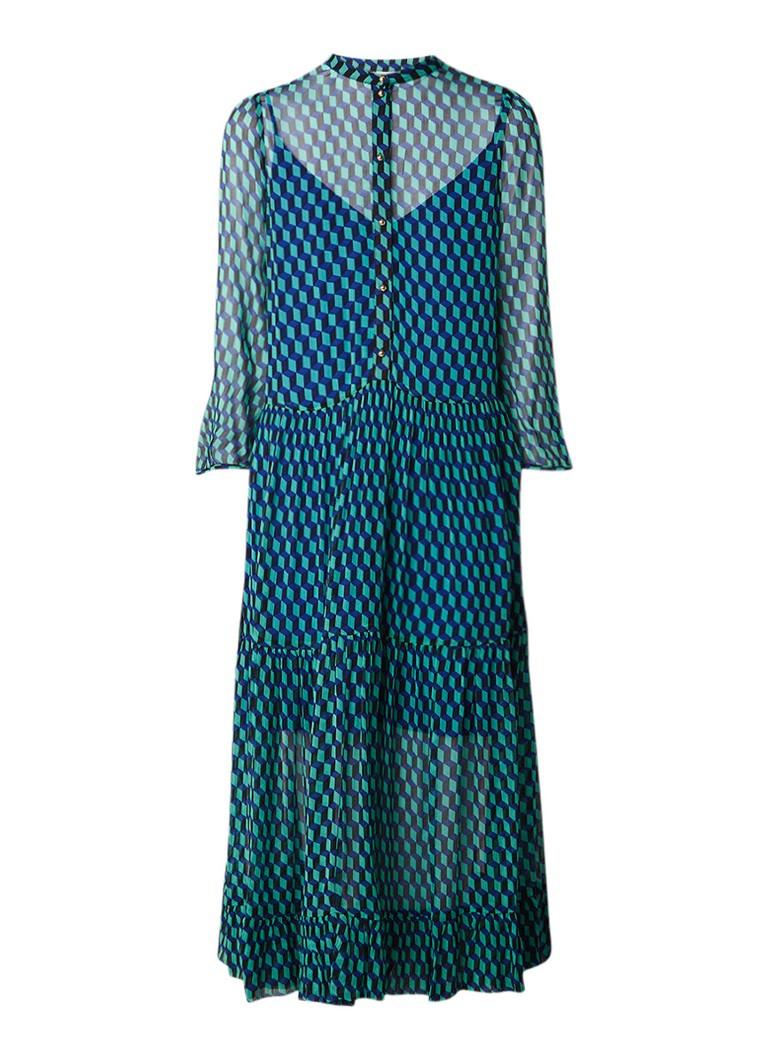 Baum und Pferdgarten Alexandria maxi-jurk met grafisch dessin zeegroen