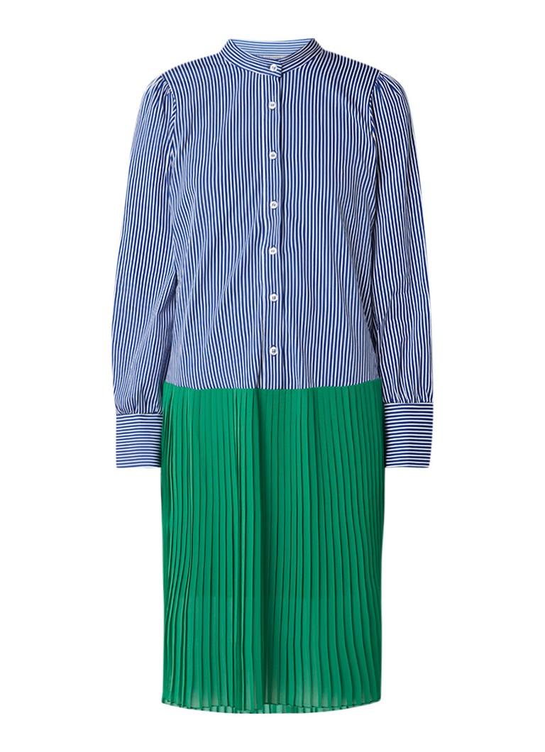 Baum und Pferdgarten Adine blousejurkk met streepdessin en plissé kobaltblauw