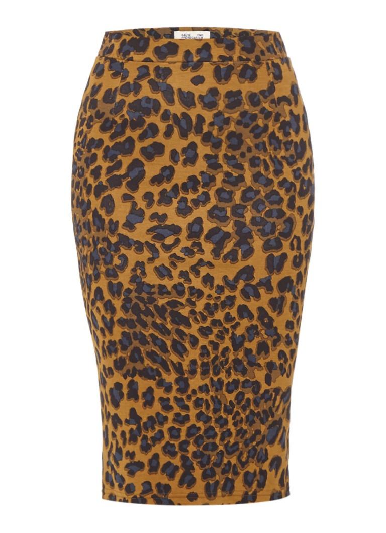 Baum und Pferdgarten Jacy midi-kokerrok met luipaarddessin bruin