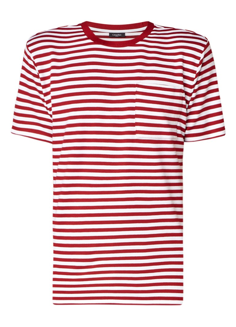 Calvin Klein Jamur fijngebreid T-shirt met streepdessin