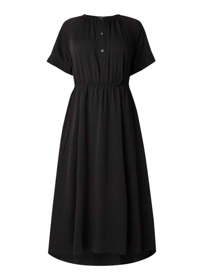 Calvin Klein Tuniekjurk met gesmockte details zwart