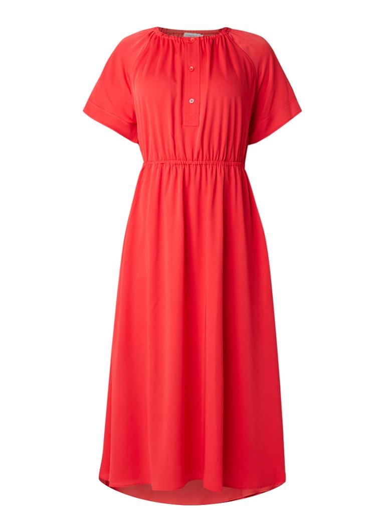 Calvin Klein Tuniekjurk met gesmockte details rood
