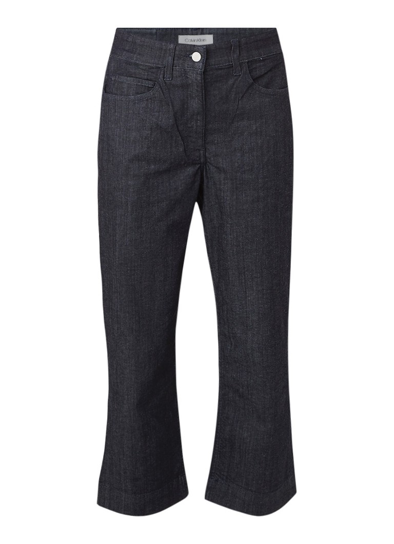 Calvin Klein Cropped straight fit jeans in donkere wassing