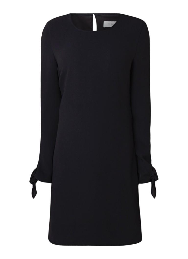 Calvin Klein Midi-jurk met gestrikte mouwboorden zwart