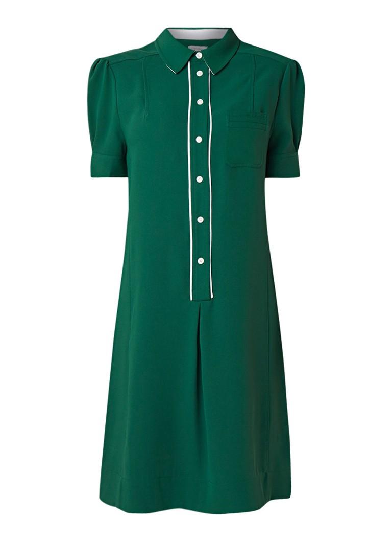 Calvin Klein Midi-jurk met contrasterende knoopsluiting groen