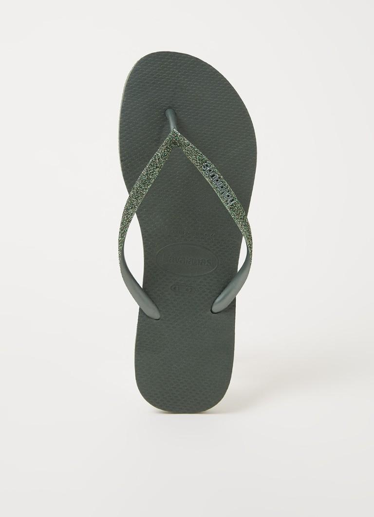 Havaianas Slipper slim glitter ii green olive online kopen