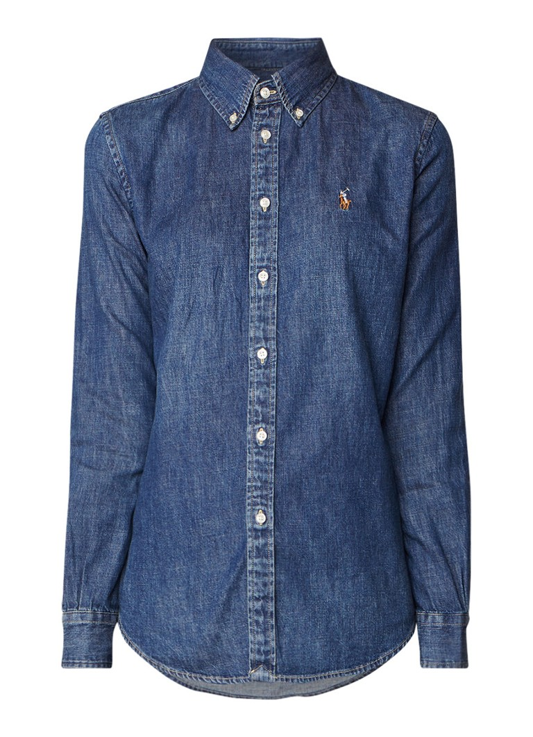 Ralph Lauren Custom Fit Blaine blouse van denim