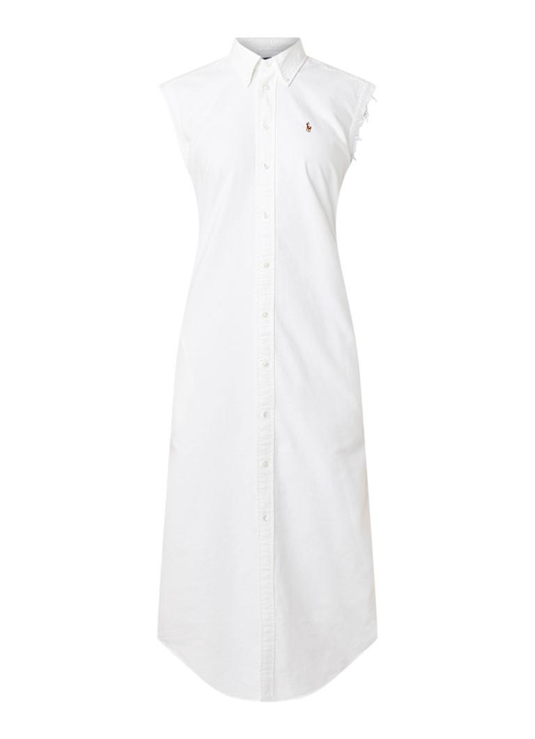 Ralph Lauren Mouwloze blousejurk van denim wit