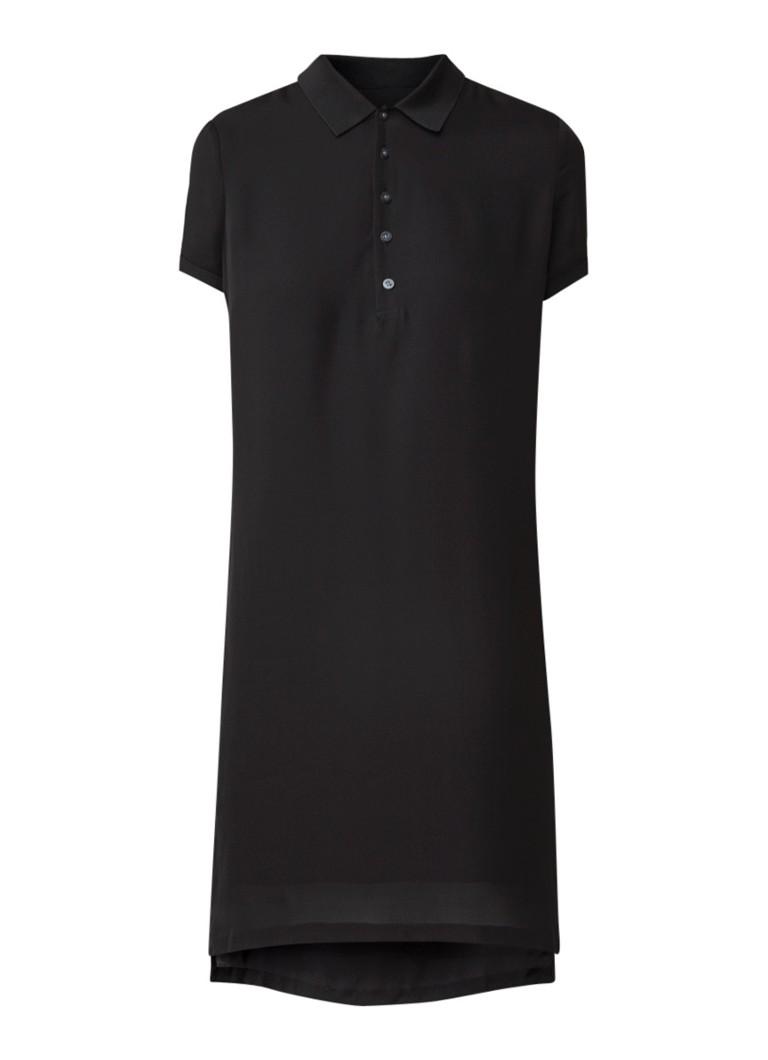 Ralph Lauren Blousejurk van zijde met polokraag zwart