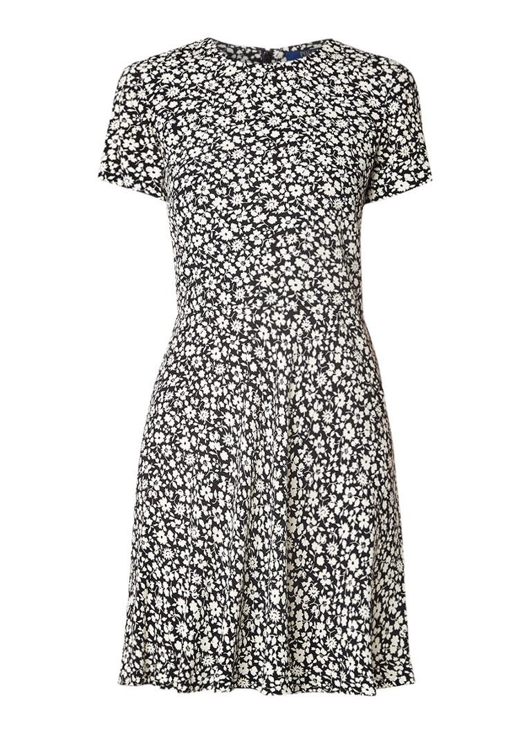 Ralph Lauren Sophia A-lijn jurk met bloemendessin zwart