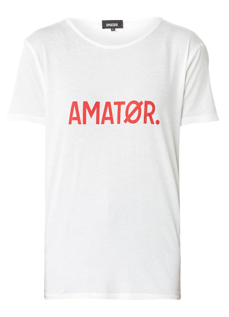 AMATØR T-shirt van katoen met logoprint
