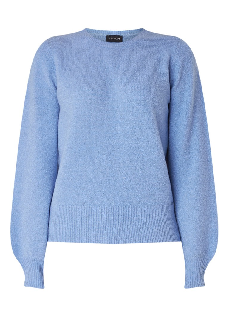 Image of Taifun Pullover in wolblend met ballonmouw