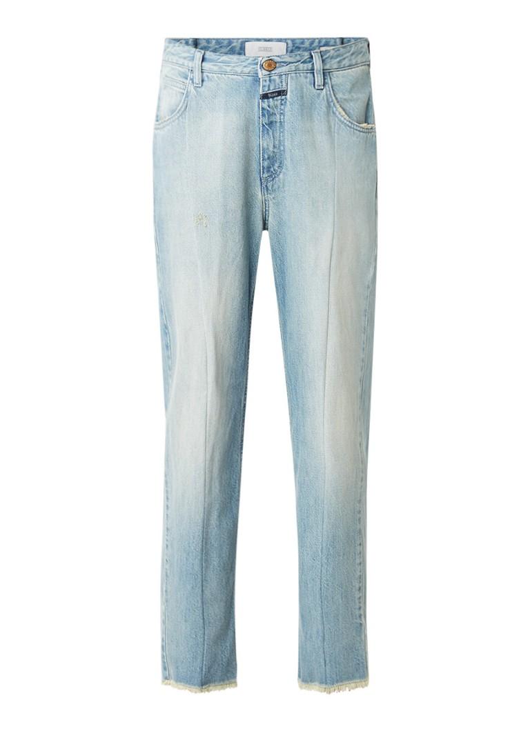 Closed Heartbreaker high rise straight fit jeans met gerafelde zoom