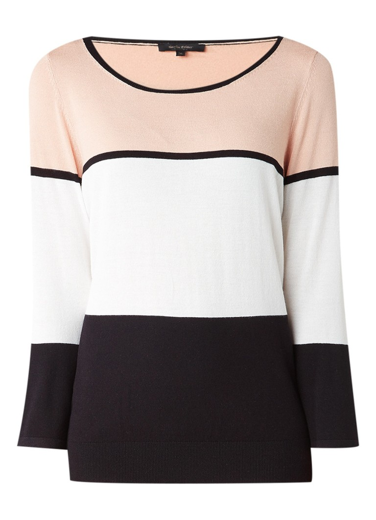Claudia Sträter Pullover met colorblocking roze