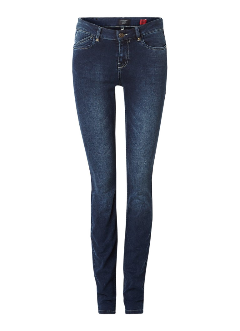 Claudia Sträter Mid rise skinny jeans met faded look