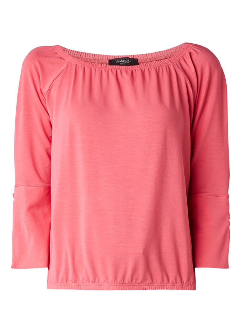 Claudia Sträter Off shoulder top met flared mouw roze