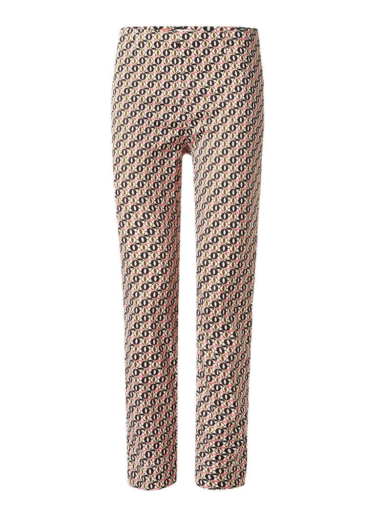 Claudia Sträter Penny pantalon met grafisch dessin roze