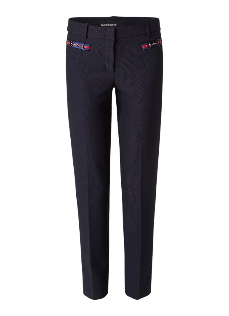 Claudia Sträter Cambio cropped pantalon met wafelstructuur roze