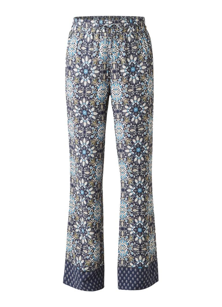 Claudia Sträter Loose fit pantalon met botanisch dessin roze