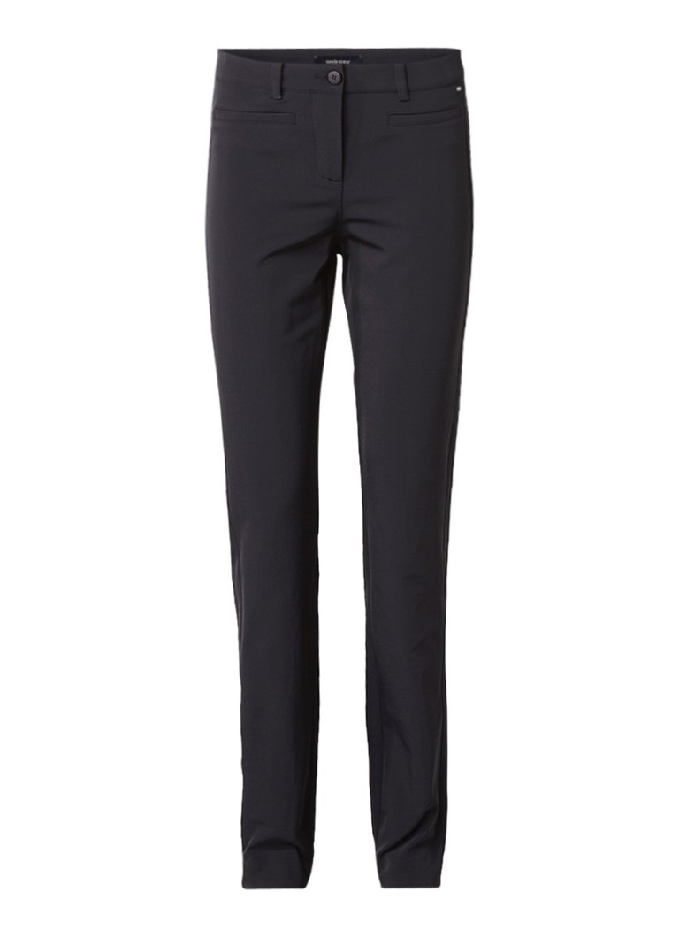 Claudia Sträter High rise slim fit pantalon met paspelzakken roze