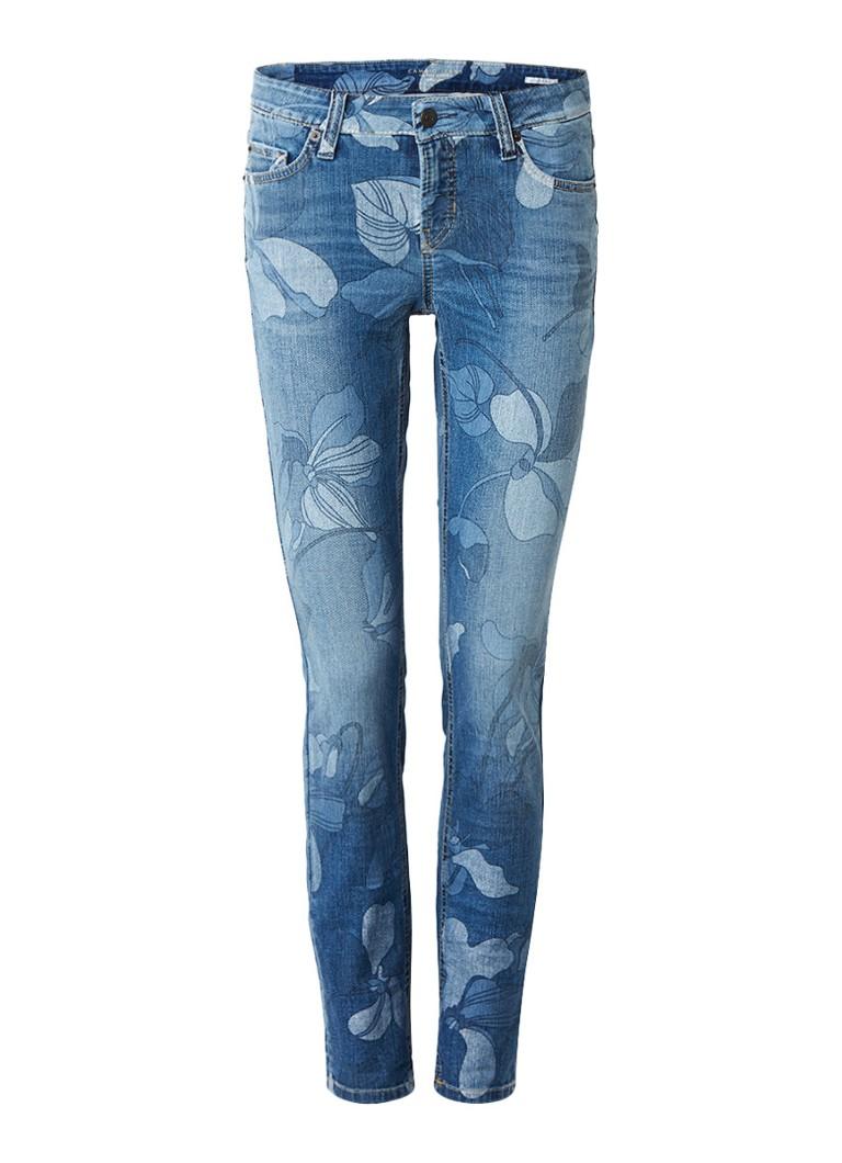 Claudia Sträter Low rise slim fit jeans met bloemenprint roze