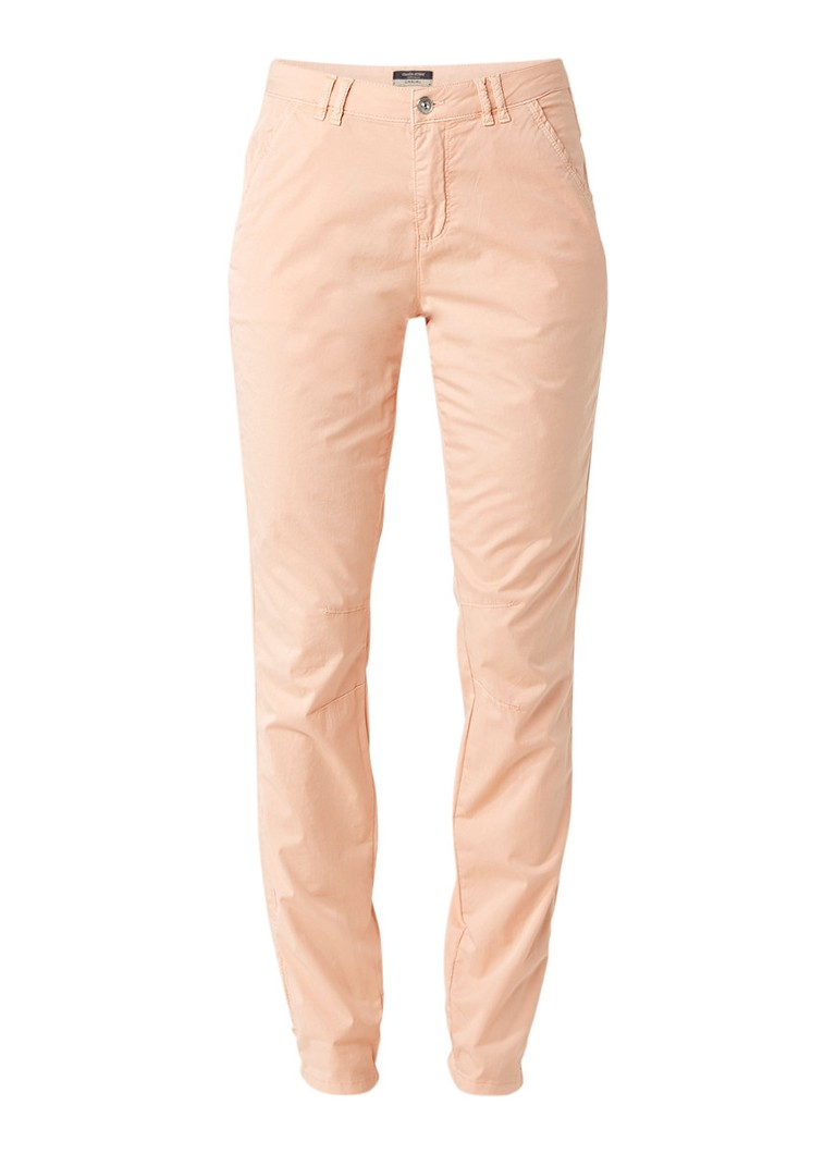 Claudia Sträter Regular fit chino met stretch roze