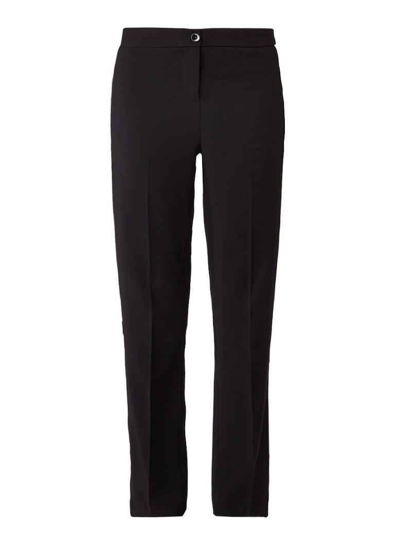 Claudia Sträter Straight fit pantalon met contrastbies roze