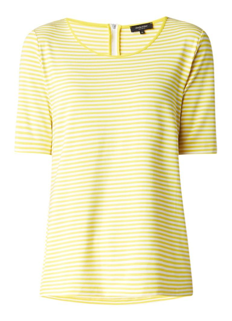 Claudia Sträter Jersey T-shirt met streepdessin roze