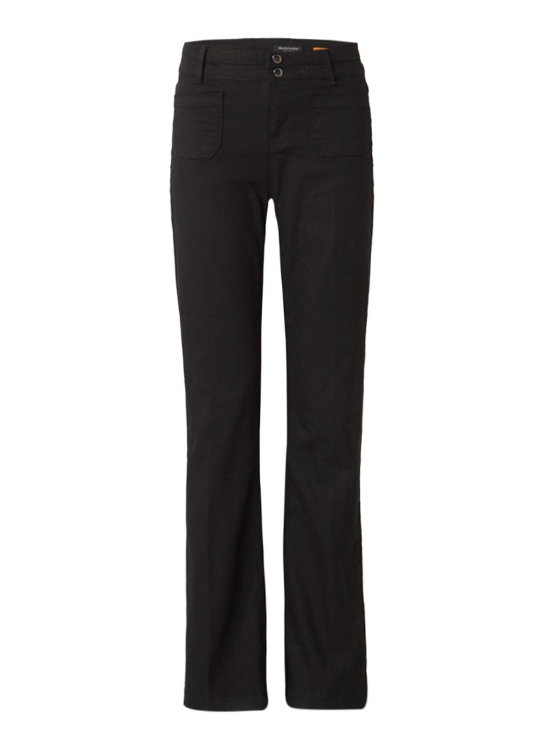 Claudia Sträter High rise flared jeans met stretch roze