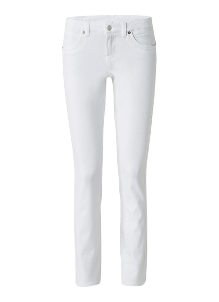 Claudia Sträter Cambio mid rise slim fit jeans roze