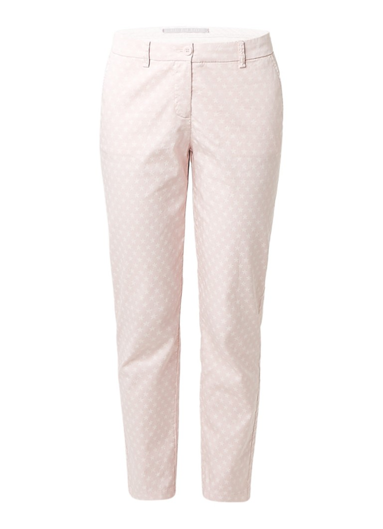 Claudia Sträter Minty 7/8 chino met sterrenprint roze