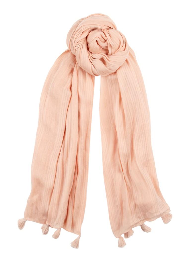 Claudia Sträter Sjaal van katoen 110 x 190 cm roze