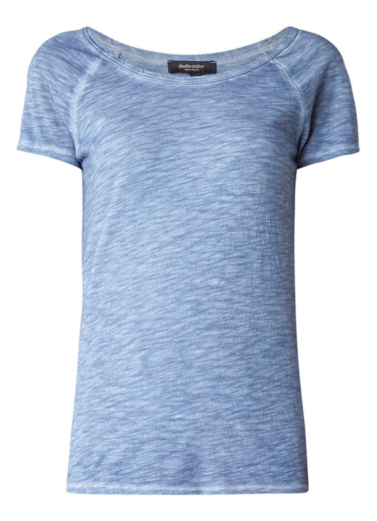 Claudia Sträter T-shirt met oneffen kleurverdeling roze