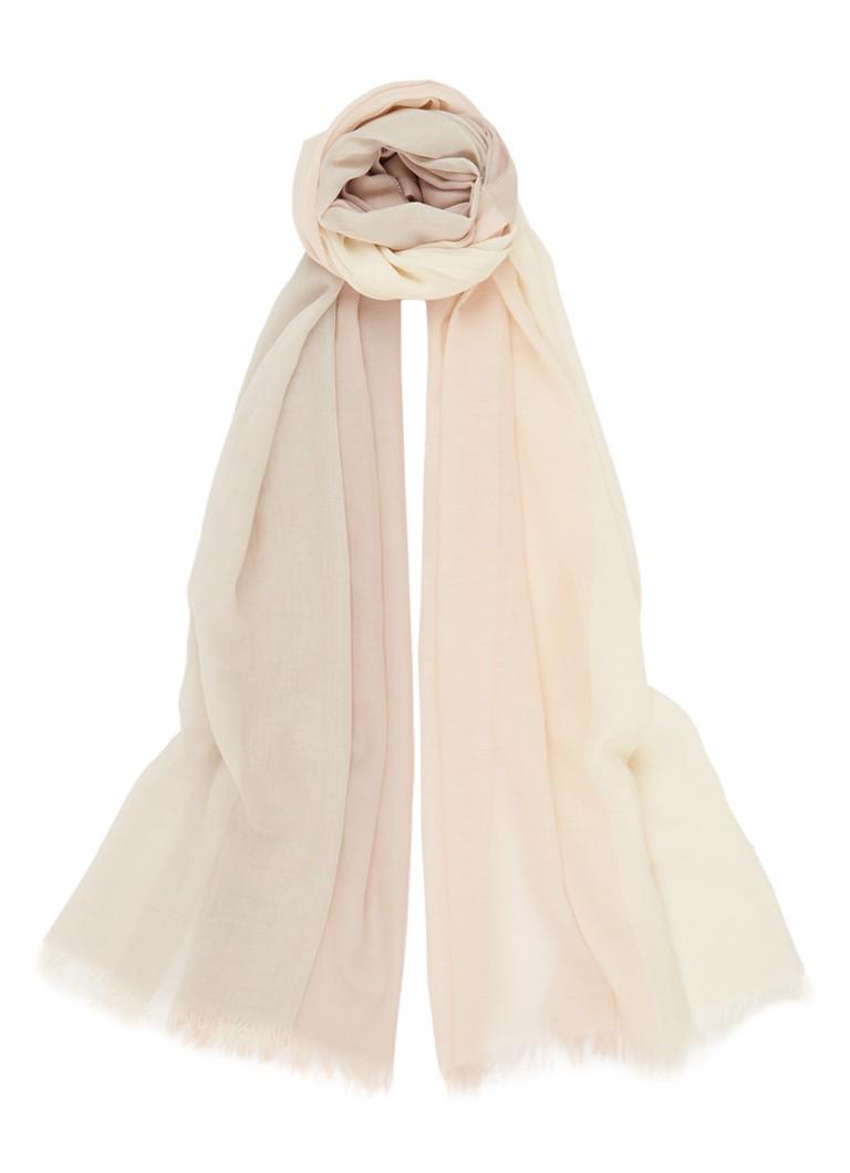 Claudia Sträter Sjaal van katoen 200 x 70 cm roze