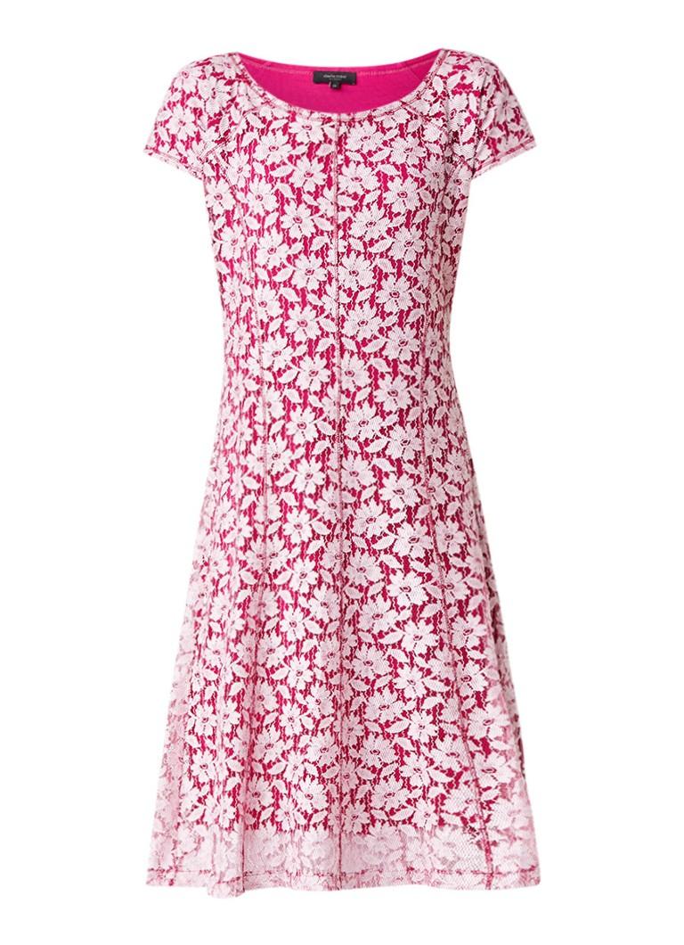 Claudia Sträter A-lijn jurk van kant fuchsia