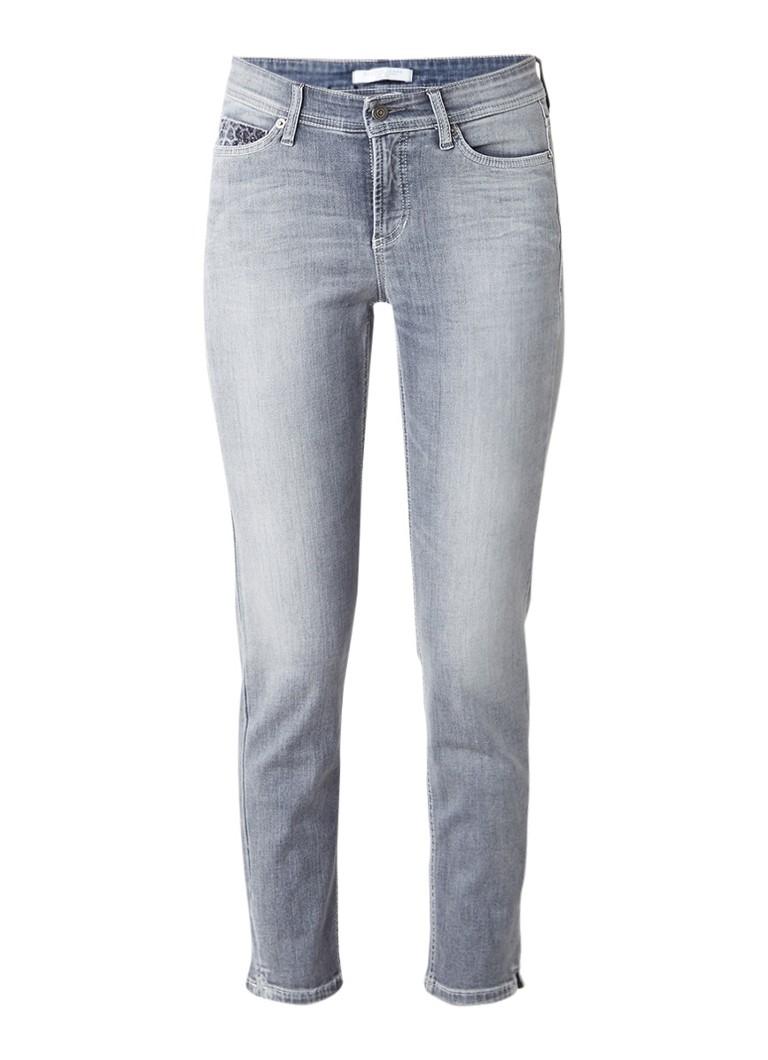 Claudia Sträter Cambio Piper cropped slim fit jeans met Swarovski kristallen