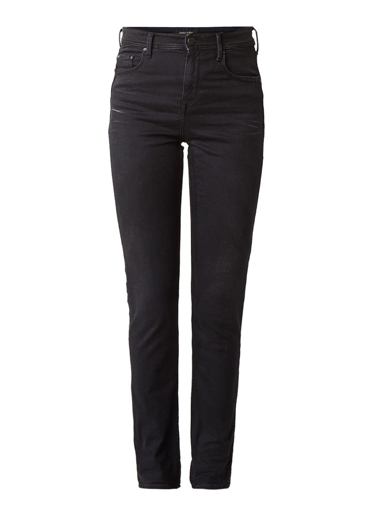Claudia Sträter High rise slim fit jeans met faded look