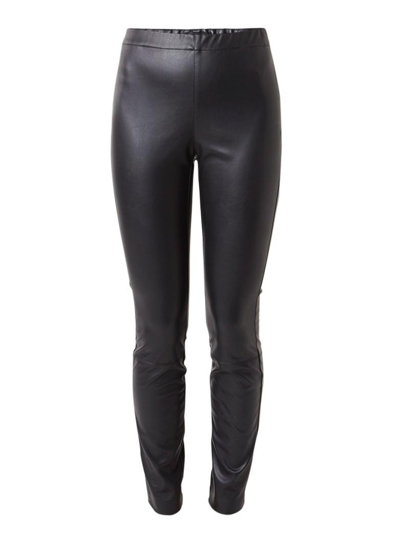 Claudia Sträter Slim-fit broek van imitatieleer met elastische tailleband