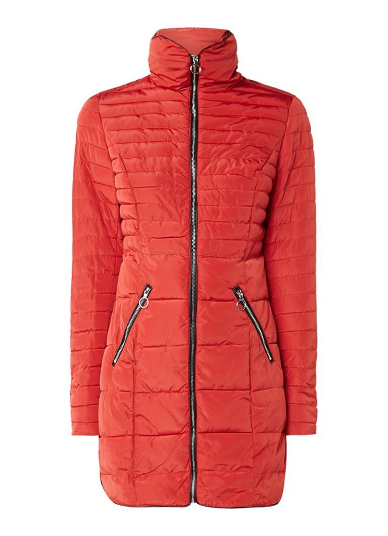 Claudia Sträter gewatteerde winterjas rood