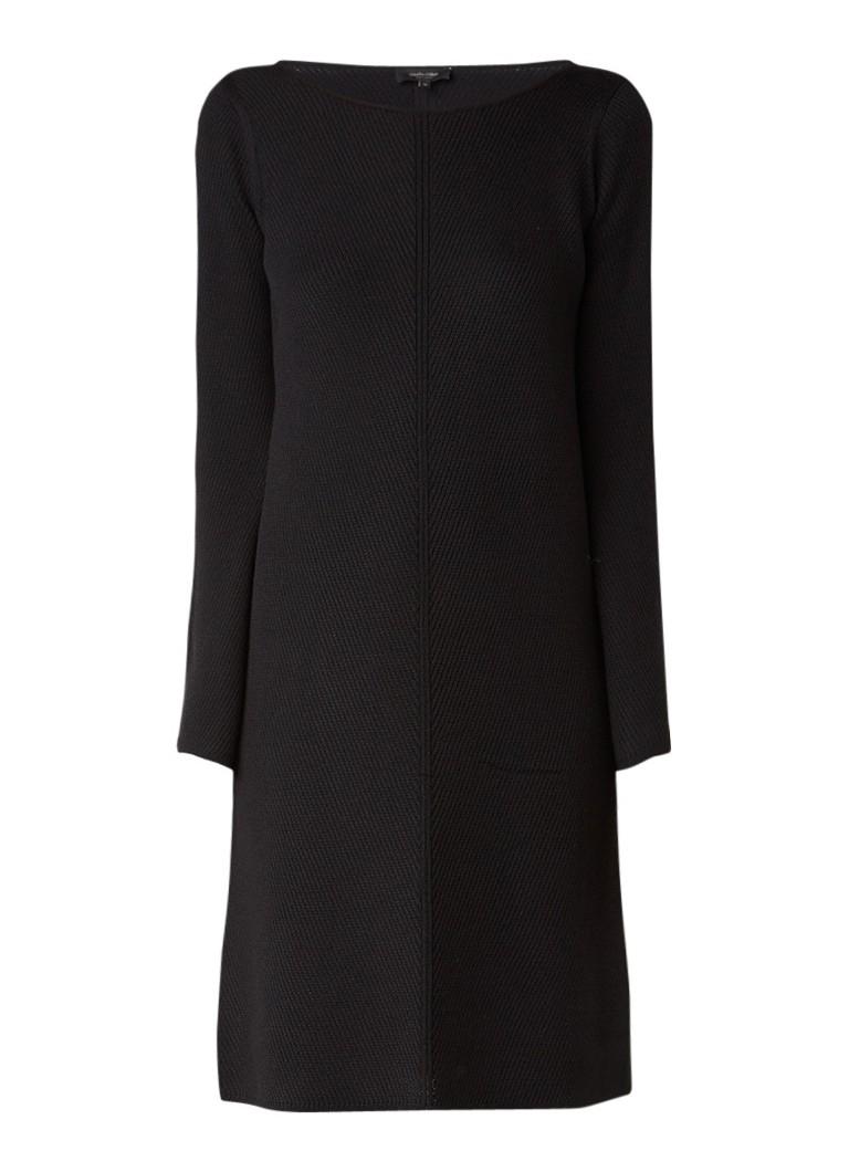 Claudia Sträter Fijngebreide midi-jurk van merinowol petrol