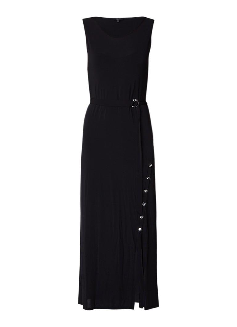 Claudia Sträter Maxi-jurk met drukknoopsluiting zwart