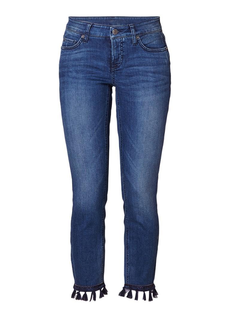Claudia Sträter Modern rise cropped slim fit jeans met kwastjes