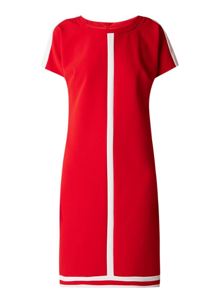 Claudia Sträter Loose fit midi-jurk met contrastbies rood